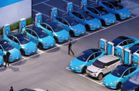 Paddle-sharing service Revel, tears out the passenger seat of a Model Y and uses Aussie-built Tritium RTM75 chargers