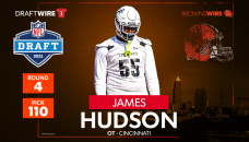 Browns select Cincinnati OT James Hudson at No. 110 overall