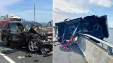 'Hero': Man saves lady, 2, thrown through car window into water below after crash