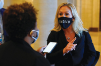 Marjorie Taylor Greene compares mask mandate to Holocaust-technology 'gold megastar'