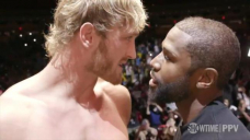 Mayweather and Paul face-off before exhibition bout