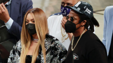 Beyoncé Snuggles Up To Jay-Z In Leather Mini Costume On Romantic Date Evening At Brooklyn Nets Sport — Pics