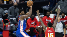 Sixers run away from Hawks in Game 2 to even series behind Joel Embiid's playoff profession-high