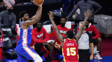 Hawks remain confident vs 76ers despite Embiid's dominance