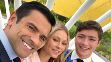 Kelly Ripa and Trace Consuelos Retain Hands as Son Joaquin Graduates High College