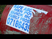 Unlawful posters plastered on poles and electrical boxes