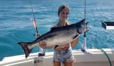 Skipper raves about girl's salmon exhaust, says 'fish should fear her'
