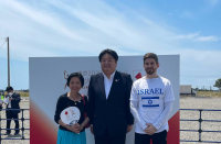 Israeli Embassy in Japan participates in torch race before Olympics