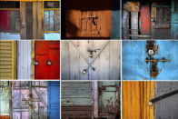 AP PHOTOS: Locked shops confront buyers in Indian market