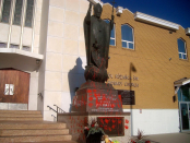 Vandalism of statue at Catholic church in Edmonton follows other recent acts