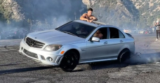Warning: This Mercedes C63 AMG Drifting Fail Will Cause Extreme Wincing