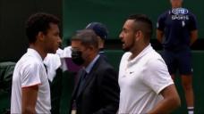 Injured Kyrgios shares nice moment