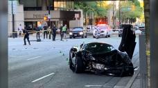 Pedestrians struck: Infant killed, father hurt in downtown Vancouver crash