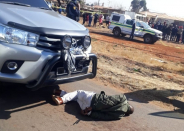 Blue light hijacker shot and killed during a shootout with police