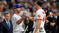 Pete Alonso's passion and Trey Mancini's persistence produce inspiring Dwelling Bustle Derby final: 'You can get through it'