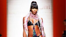 Naomi Campbell, 51, Rocks Strappy Burberry Swimsuits After Welcoming 1st Daughter
