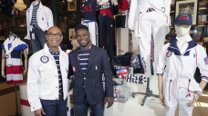 Navy blazers, stripes and flag scarves for Crew USA in Tokyo