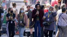Indiana Jones stars Phoebe Waller-Bridge and Boyd Holbrook on set in Glasgow