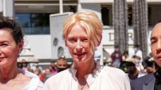 Tilda Swinton returns to Cannes red carpet for acclaimed film Memoria