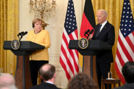 Biden and Merkel warn Russia cannot use Nord Circulate gas pipeline as weapon against Ukraine