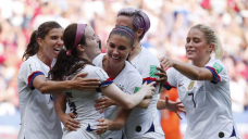 The USWNT couldn't go to the Olympics Opening Ceremony, but they had fun making an entrance anyway