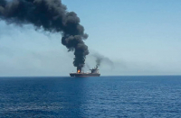 Two killed in alleged Iranian drone attack on Israeli-managed ship