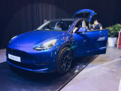 Michelin's new Pilot Sport EV Tyre shows up on Tesla Mannequin Y in Hong Kong