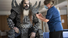 Lordi singer gets jab while in costume
