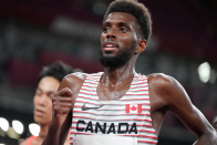 Canada's Mohammed Ahmed wins silver in 5,000-metre race at Olympics