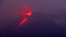 Sleek eruption of Indonesian volcano