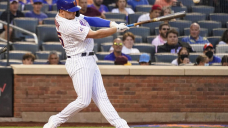 Alonso, Mets rally past Nationals 8-7 in suspended game