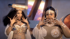 Lizzo And Cardi B Glitter As Golden Muses In Chronicle 'Rumors' Video