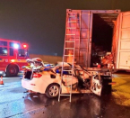 Driver dead after collision involving transport truck on Hwy. 401 in Toronto