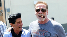 Arnold Schwarzenegger, 74, Looks Buff As He Steps Out With A Cigar At Beverly Hills Hair Salon