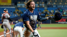 Rays' Brett Phillips narrowly beats tag at home plate for blistering internal-the-park home run