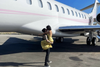 Internal Kourtney Kardashian and Travis' holiday as he overcomes fear of flying after horror crash