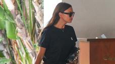Irina Shayk Rocks Gloomy Daisy Duke Shorts Initiating air Sunset Tower Hotel In LA — Photo