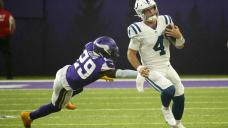 Eason, Colts eke past Vikings 12-10; offenses need more work