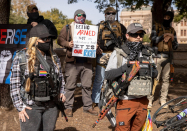 Armed protests are picking up, and a new study says they're more likely to turn violent