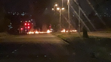 Fiery early morning protest actions quelled in Durban and Verulam