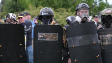 Portland police seek 2nd gun fired during clashes downtown