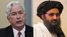 William Burns met in secret with Taliban co-founder Abdul Ghani Baradar in Kabul as the US continues airlifting American citizens and its Afghan allies