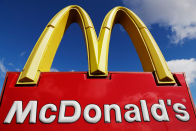 2 couples to drive down the aisle as they wed at McDonald's in Cambridge