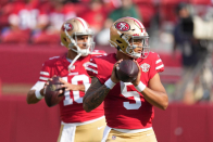 It sounds like Jimmy Garoppolo is going to be the 49ers starting QB