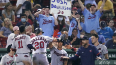 Donaldson, Cave homer in 10th to lead Twins past Boston 9-6