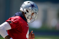 'Ready to rock and roll': Cowboys QB Dak Prescott returns to team drills without pitch count