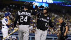 Cron, Rockies outhomer Dodgers in 4-2 victory