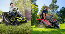 Drag-on lawnmowers also going electric, Ryobi and Toro compared