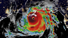 The dangerous storm has sustained winds of 150 mph and landfall in Louisiana is imminent. The expected storm surge is described as 'unsurvivable.'