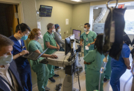 Hospitals brimming with virus patients…